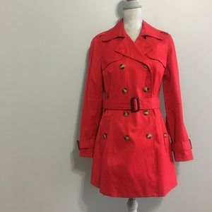 Banana Republic red trench coat
